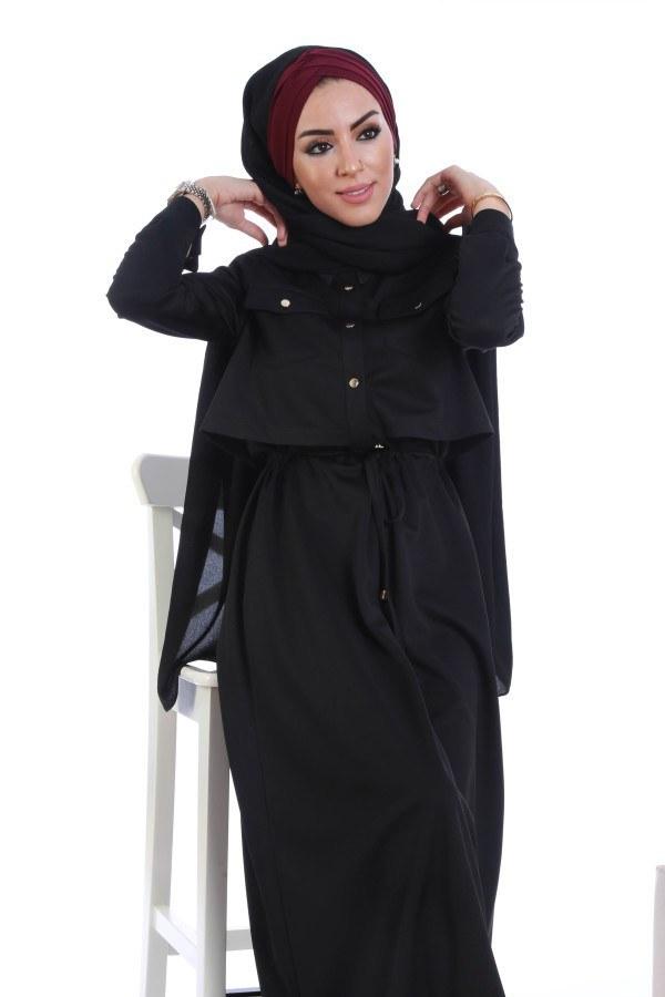 - Şık Tesettür Elbise 8201-11 (1)