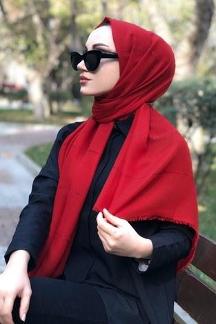 - Sim şeritli Şal 5787-05 kırmızı (1)