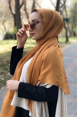 - Sim şeritli Şal 5787-29 camel (1)