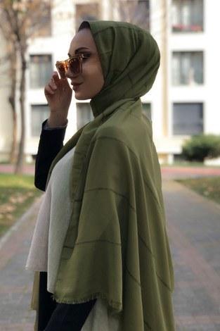 - Sim şeritli Şal 5787-06 yeşil (1)