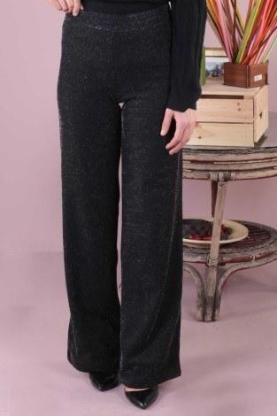 - Simli Bol Pantolon 5990-1 siyah