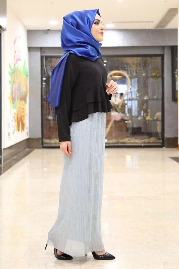 Simli Etek 25016-4 Mavi