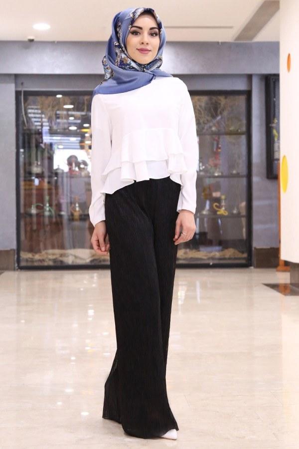 Simli Pantolon 25017-2 Siyah
