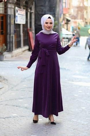 Simli Tarz Elbise 5594-2 - Thumbnail