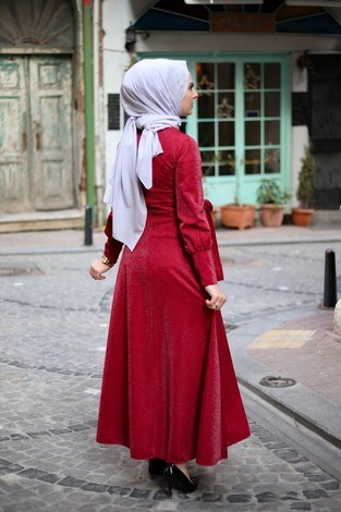 Simli Tarz Elbise 5594-4 - Thumbnail