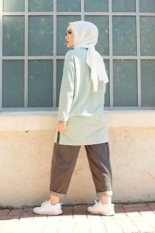 Simple Sweat-Tunik 9792-11 Mint - Thumbnail