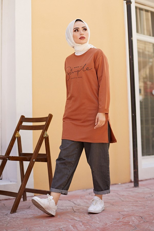 Simple Sweat-Tunik 9792-13 Taba