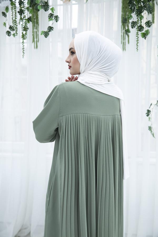 Sırttan Piliseli Elbise 160SAG-3142 Mint