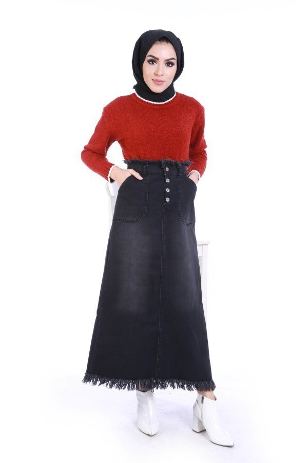 Siyah Kot Etek 5166-1