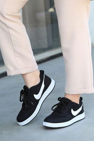 Spor Ayakkabı 6158-1 Siyah - Thumbnail
