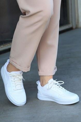- Spor Ayakkabı 6158-2 Beyaz