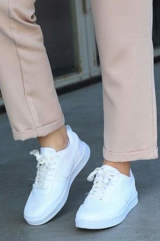 Spor Ayakkabı 6158-2 Beyaz - Thumbnail