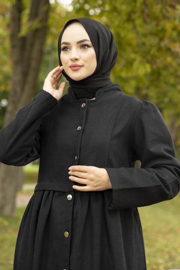 Swing Kaşe Kaban 190E1218 Siyah