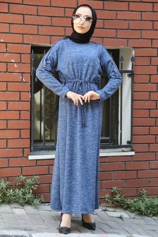- Tahta Düğmeli Spor Elbise 01556-08