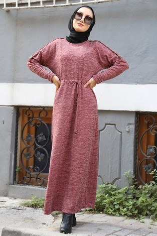 - Tahta Düğmeli Spor Elbise 01556-09