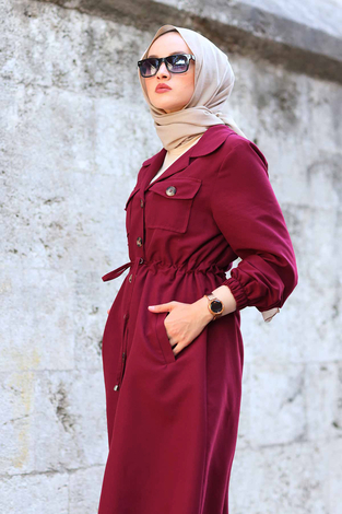 - Tarz Trenchcoat 7337-3 Bordo (1)