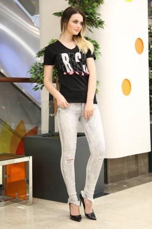 - Taş Baskılı T-Shirt 1982-2 Siyah (1)