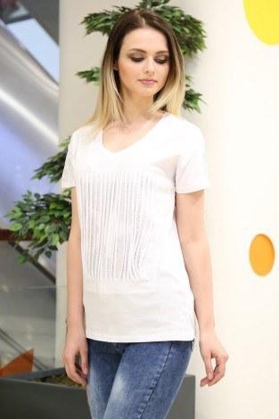 - Taş Baskılı T-Shirt 1985-1 Beyaz (1)