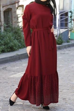- Taş Detaylı Elbise 2098-02 (1)