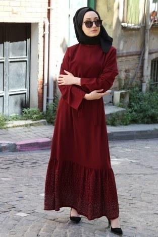 Taş Detaylı Elbise 2098-02 - Thumbnail