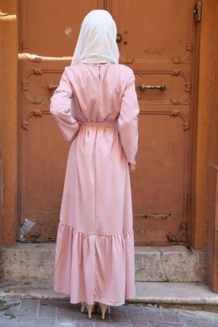 Taş Detaylı Elbise 2098-03 - Thumbnail