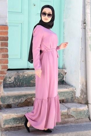 Taş Detaylı Elbise 2098-05 - Thumbnail
