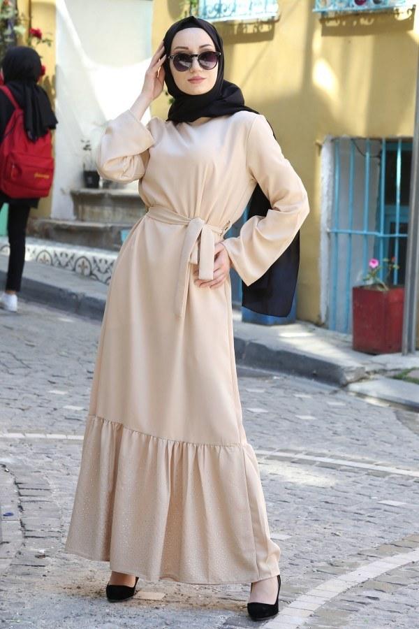 Taş Detaylı Elbise 2098-06
