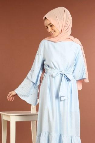 - Taş Detaylı Elbise 4076-03 (1)