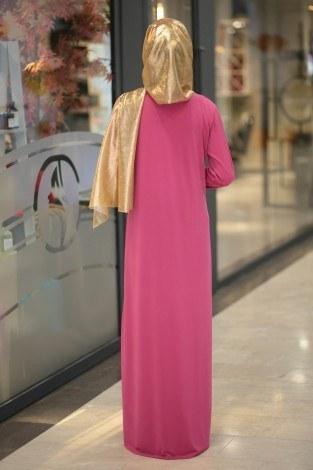 Taş İşleme Nakışlı Abiye Elbise 83100-8 - Thumbnail