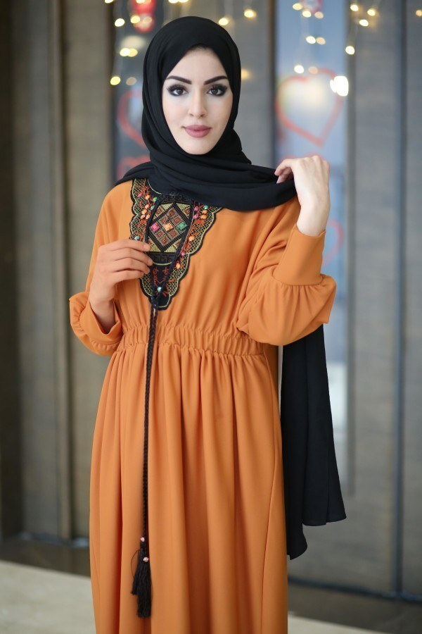 Taşlı Nakışlı Elbise 8385-2