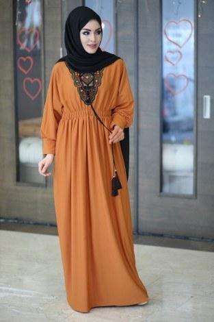 - Taşlı Nakışlı Elbise 8385-2