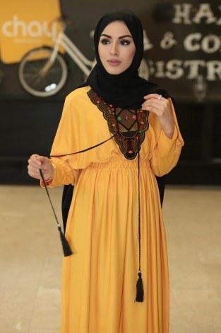 - Taşlı Nakışlı Elbise 8385-8 (1)