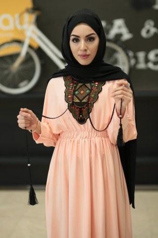 - Taşlı Nakışlı Elbise 8385-10 (1)