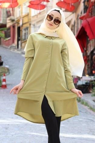 Tek Renk Kat Gömlek 4896-06 - Thumbnail