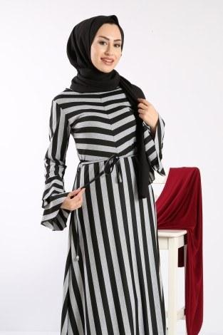 - Geniş Çizgili Elbise 5789-01 (1)