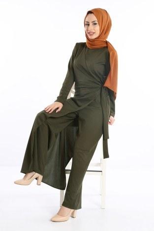 - Tesettür Tulum Elbise 5558-03