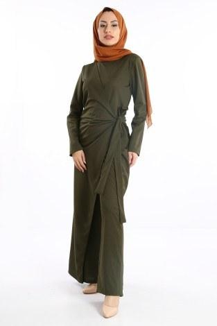 Tesettür Tulum Elbise 5558-03 - Thumbnail