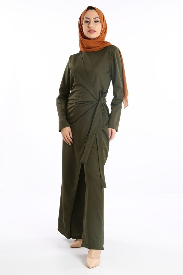 Tesettür Tulum Elbise 5558-03