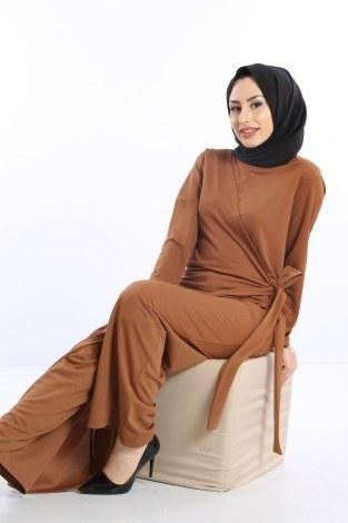 Tesettür Tulum Elbise 5558-04 - Thumbnail