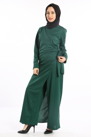 - Tesettür Tulum Elbise 5558-05