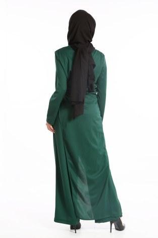 Tesettür Tulum Elbise 5558-05 - Thumbnail