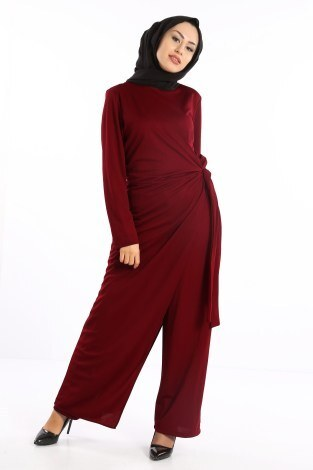 - Tesettür Tulum Elbise 5558-06