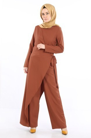 Tesettür Tulum Elbise 5558-07 - Thumbnail
