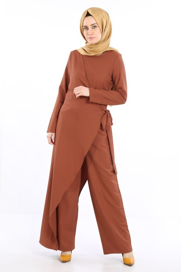 Tesettür Tulum Elbise 5558-07