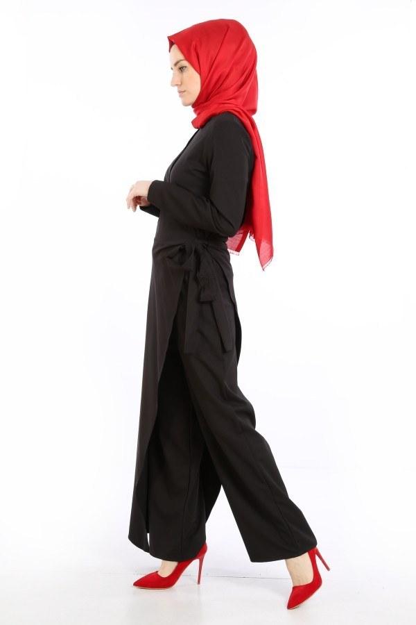 Tesettür Tulum Elbise 5558-08