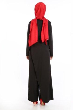 Tesettür Tulum Elbise 5558-08 - Thumbnail