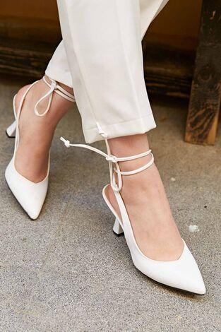 Topuklu Ayakkabı 190E-3989 Beyaz - Thumbnail
