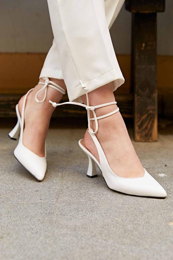 Topuklu Ayakkabı 190E-3989 Beyaz