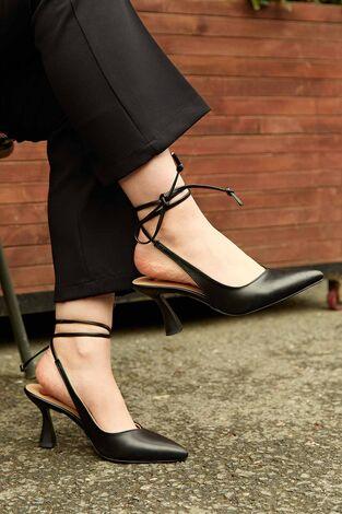 Topuklu Ayakkabı 190E-3989 Siyah - Thumbnail
