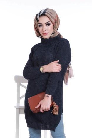 - Triko Balıkçı Yaka Oversize Kazak 2363-17 (1)